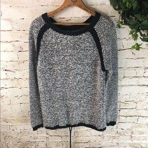Ann Taylor LOFT Marled Drawstring Sweater